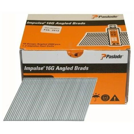 Paslode Angled Brad Nail Fuel Pack F16 Galv QTY 2,000
