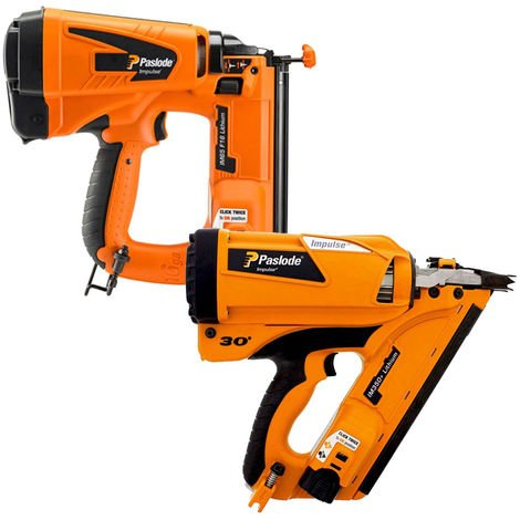 Paslode IM350+ Framing Nailer First Fix Gun & IM65 F16 Finishing Brad Nailer 2nd Fix
