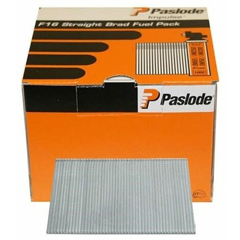 Paslode PAS921592 16 Gauge Straight Brads & Gas Straight ELGV 16g x 63mm 2BFC Box of 2000