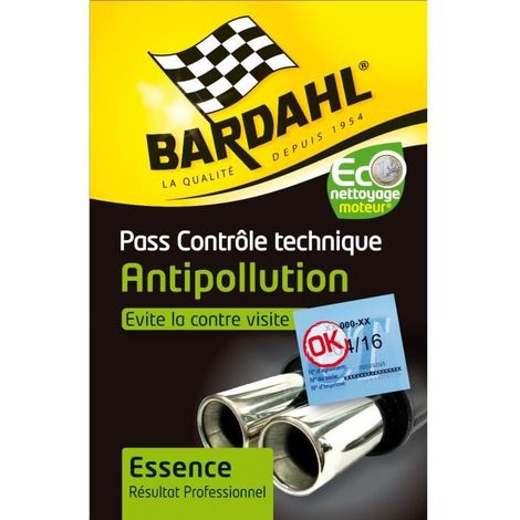 Pass controle technique Anti-pollution Essence - 2x300ml - BA9044 Bardahl