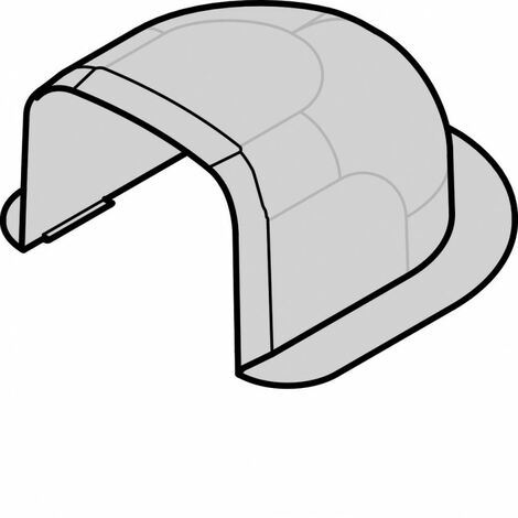 Passage de mur p CLM75125 p 75mm h 125mm IK08-IK10 PVC RAL 9010 blanc paloma (CLM7512561)
