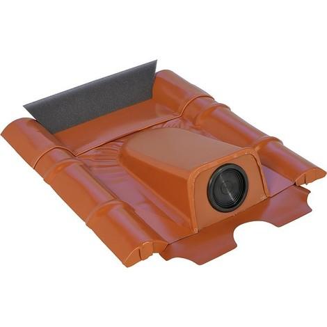Passage tubulaire solaire beton Plaque plomb, avec douille EPDM Diam 20-65mm, Zinc-Titane, 2 pcs