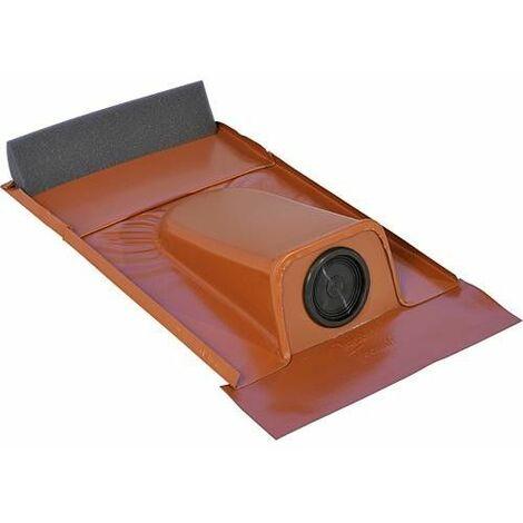 Passage tubulaire solaire type Ton Plaque plomb avec douille EPDM Diam 20-65mm, rouge, 2 pcs