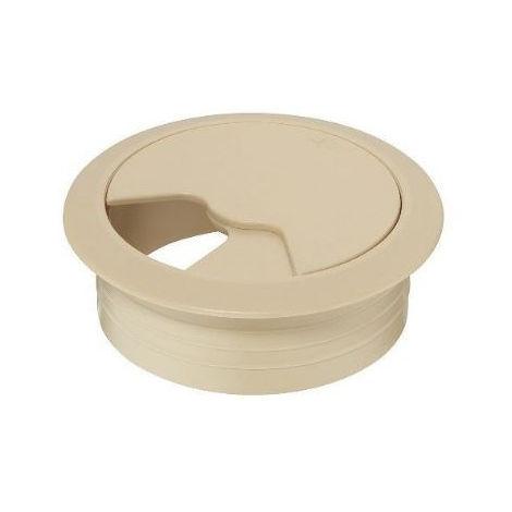 Passe câble pivotant Ø 60mm HAFELE - beige - 428.96.402