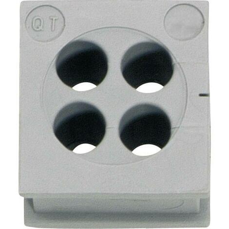 Passe-fils Icotek QT 4/4 42582 Ø max. des bornes 4 mm Elastomère gris 1 pc(s)
