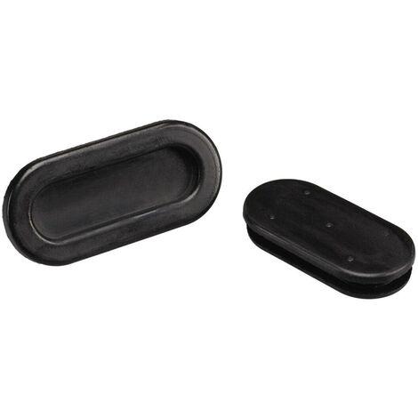 Passe-fils PB Fastener 1028-01 trou oblong Ø max. des bornes 26.6 mm PVC noir 1 pc(s) S24799