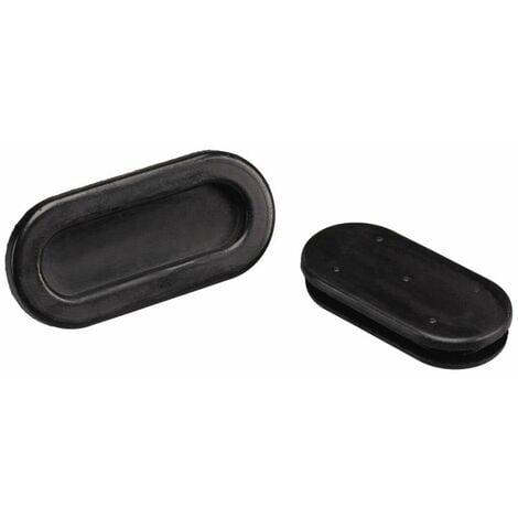 Passe-fils PB Fastener 1098-01 trou oblong Ø max. des bornes 33 mm PVC noir 1 pc(s)