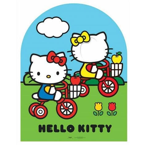 Passe tête géante en carton Hello Kitty jardin H 123 CM