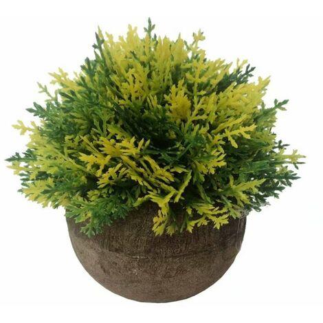 Pasta artificiale Pasta Asparago Bonsai fiori artificiali fiori artificiali piante verdi piante artificiali piante artificiali piante artificiali in vaso (giallo)