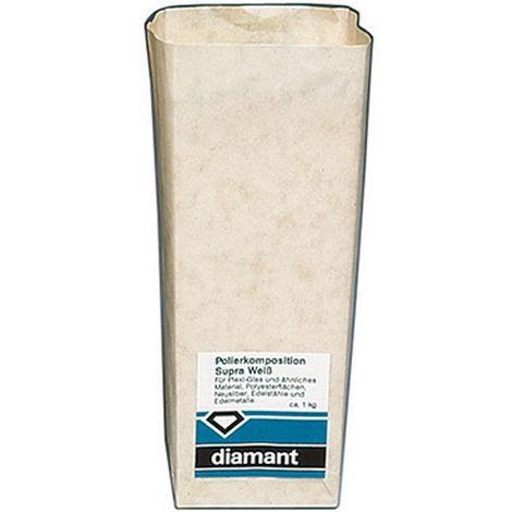 Pasta de polir, aplicación para : acrílico, materia plástico, Acero (calidad ultrafino), Contenido 900 g, color extra-blanco