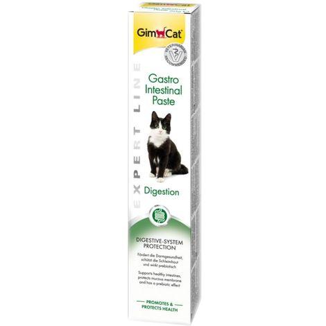 Pasta GimCat Gastro Intestinal, malta para mejorar la digestión de los gatos - Tubo 50 gr