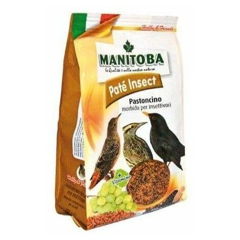 Pasta para pájaros insectivoros MANITOBA PATÉ INSECT 400 gr
