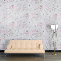 Paste The Wall Vinyl Halcyon Days Design Kitchen and Living Room Glitter Wallpaper Roll Lavender 665701