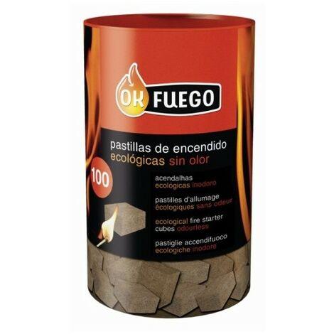 Pastilla Encendido Barbacoa Ecologica Ok Fuego 100 Pz