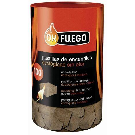 "main image of ""Pastilla Encendido Barbacoa Ecologica Ok Fuego 100 Pz"""