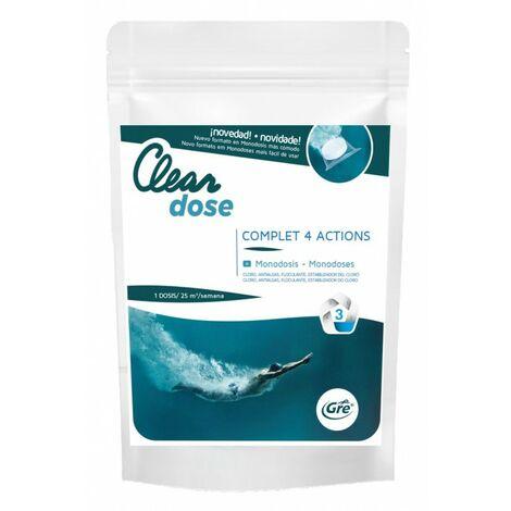 Pastillas monodosis de cloro multifunción 250 gr GRE PCLMULE
