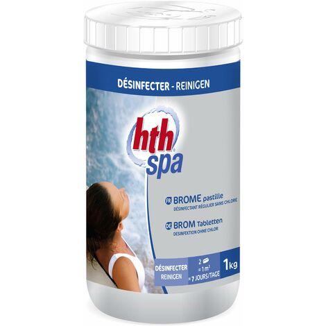 Pastilles de brome de 20g pour spa, entretien de l'eau HTH, désinfectant lent sans chlore actif