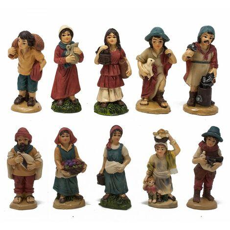 Pastori in Resina 5 cm per Presepe Confezione da 12 pezzi - 49581