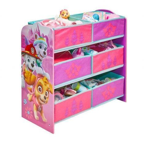magasin en ligne 0003e 5429c PAT PATROUILLE Meuble de rangement Jouets enfant 6 bacs rose - Worlds Apart