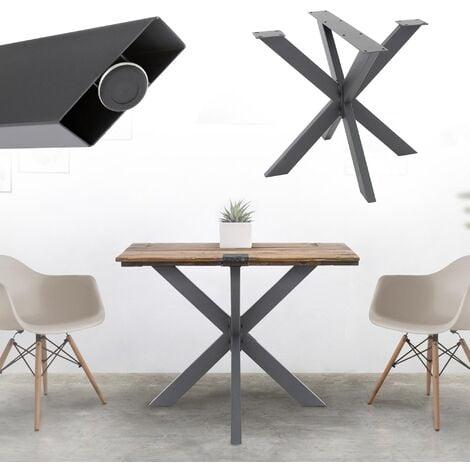 """main image of """"Pata de mesa industrial cruzadas antracita soporte auxiliar de encimera 85x71 cm"""""""