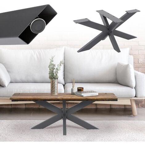"""main image of """"Pata de mesa industrial cruzadas antracita soporte auxiliar de encimera 98x58 cm"""""""