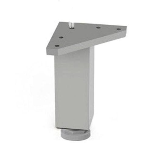 Pata mueble aluminio cuadrada - varias tallas disponibles