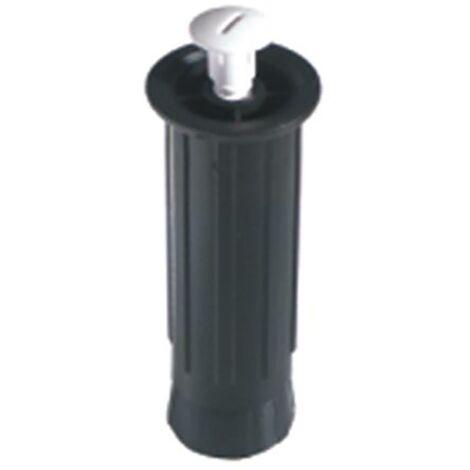 Pata Mueble Redonda Lisa 130/200Mm Plastico Negro Micel