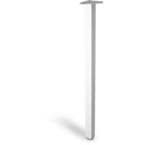 "main image of ""Pata regulable de aluminio cuadrada, con acabado en anodizado mate, diseñada para mesas altas (800mm con sistema de fijación)"""