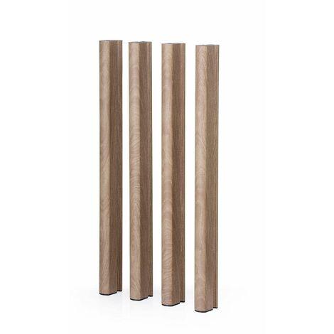 Patas de aluminio madera 95 H Mediterraneo - 50151011542143