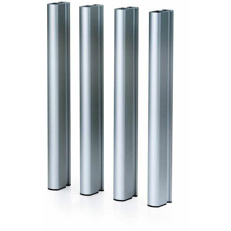 Patas de aluminio plateadas 75 H Mediterraneo - 50151011542112