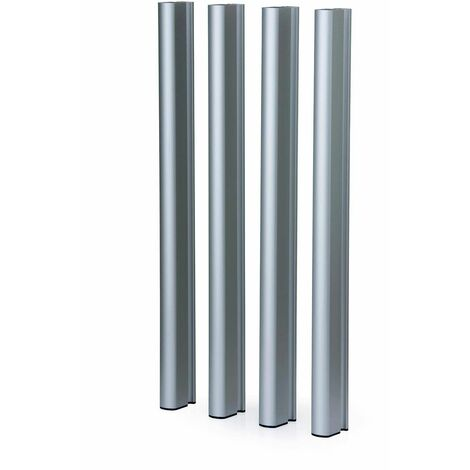 Patas de aluminio plateadas 95 H Mediterraneo - 50151011542136
