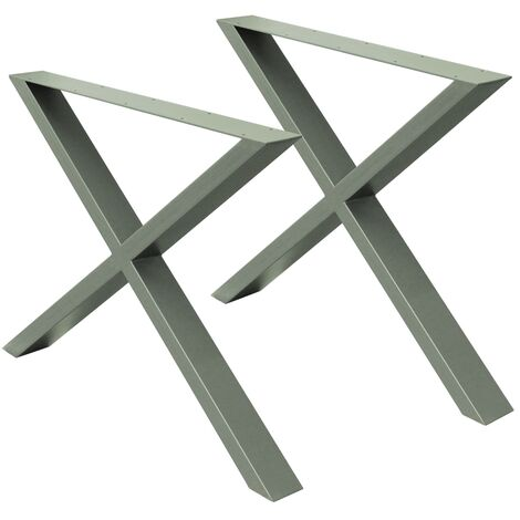 Patas de mesa 72x60cm X-Design acero gris pies de escritorio soporte industrial
