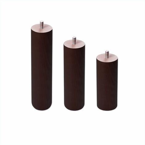Patas redondas de madera - Rosca de Metrica 10 (1 cms) -