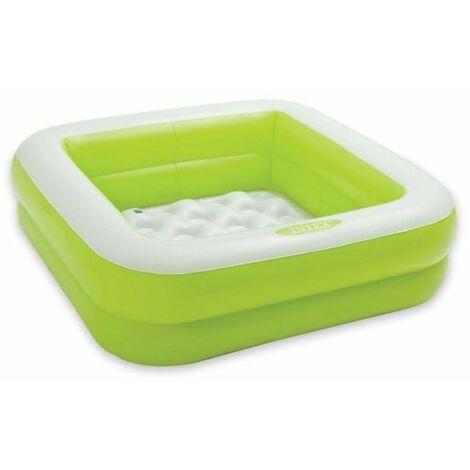 Pataugeoire gonflable carrée INTEX - Vert