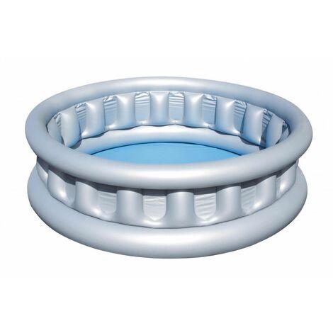Pataugeoire gonflable ronde - Navette spatiale - D 152 cm x H 43 cm