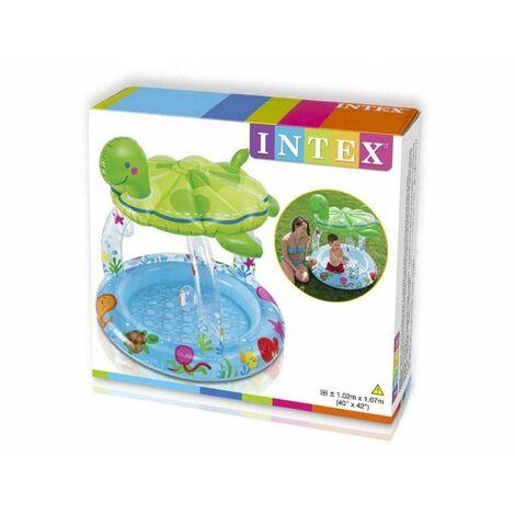 Pataugette avec pare soleil Tortue - Intrex - Petite piscine gonflable