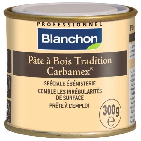 Pâte à bois tradition Carbamex teinte blanc pot de 300 g - Blanc
