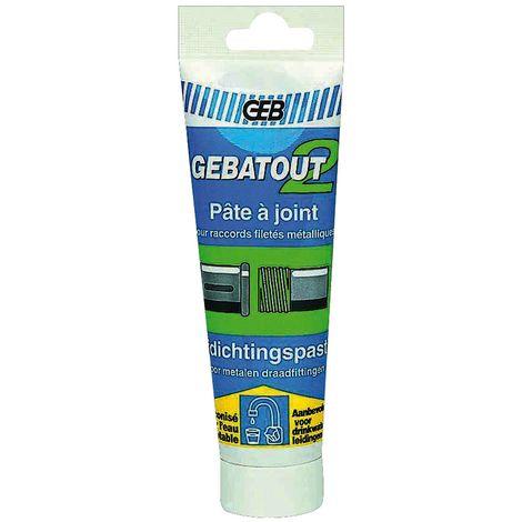 Pate à joint verte plomberie chauffage GEBATOUT 2-Tube 125ml