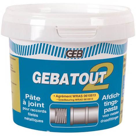 Pate a joint verte pour raccords filetés métallique GEBATOUT 2 - Pôt 500g
