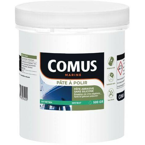PATE A POLIR SANS SILICONE 500G - Pâte abrasive sans silicone à base de cires végétales - COMUS MARINE - incolore