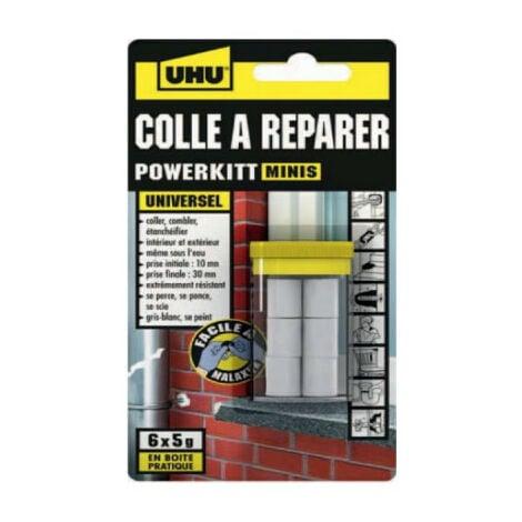 Pâte à réparer UHU tous matériaux boîte minis - 6x5g - 37745 - Noir