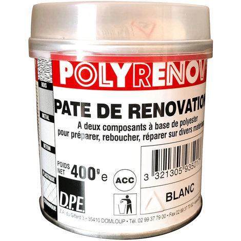 Pate de renovation bi-composant à base de polysester pour préparer, reboucher, réparer sur divers matériaux : Polyrenov'