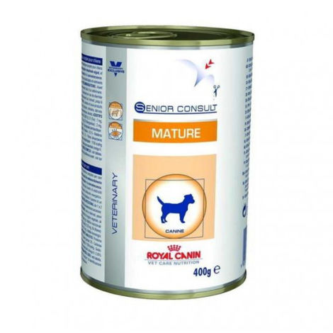 Pâtée pour chien senior Royal Canin Veterinary Care Consult Medium - Lot de 12 boîtes x 400 g