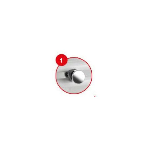 Patere Bouton Chrome pour seche-serviettes tubes ronds DORIS TIMELIS 2012 ATLANTIC 850201