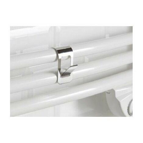 Patère crochet pour sèche-serviettes à tubes ronds - Chrome