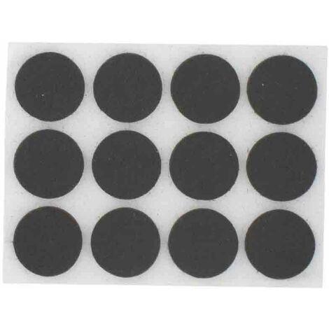 LOT DE 24 PATINS EN FEUTRE AUTOCOLLANTS forme ronde 20 mm