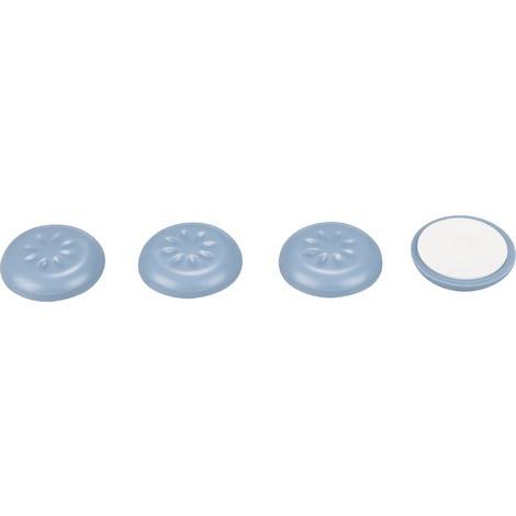 Patin glisseur plastique structure alvéolée 3M - Diamètre 30 mm - Vendu par 4 - Gris