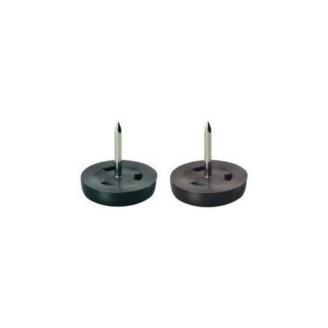 Patin plastique marron 25 mm (Par 100)