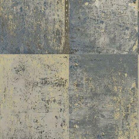 Patina Blue Wallpaper Holden Decor Paste The Wall Distressed Panel Metallic