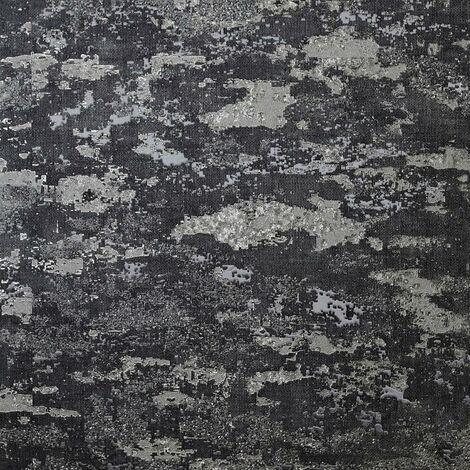 Patina Charcoal Textured Wallpaper Arthouse Heavyweight Vinyl Glitter Metallic